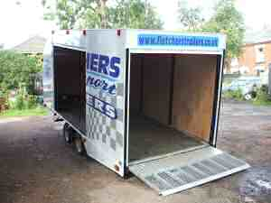 White Trailer Tilt Bed